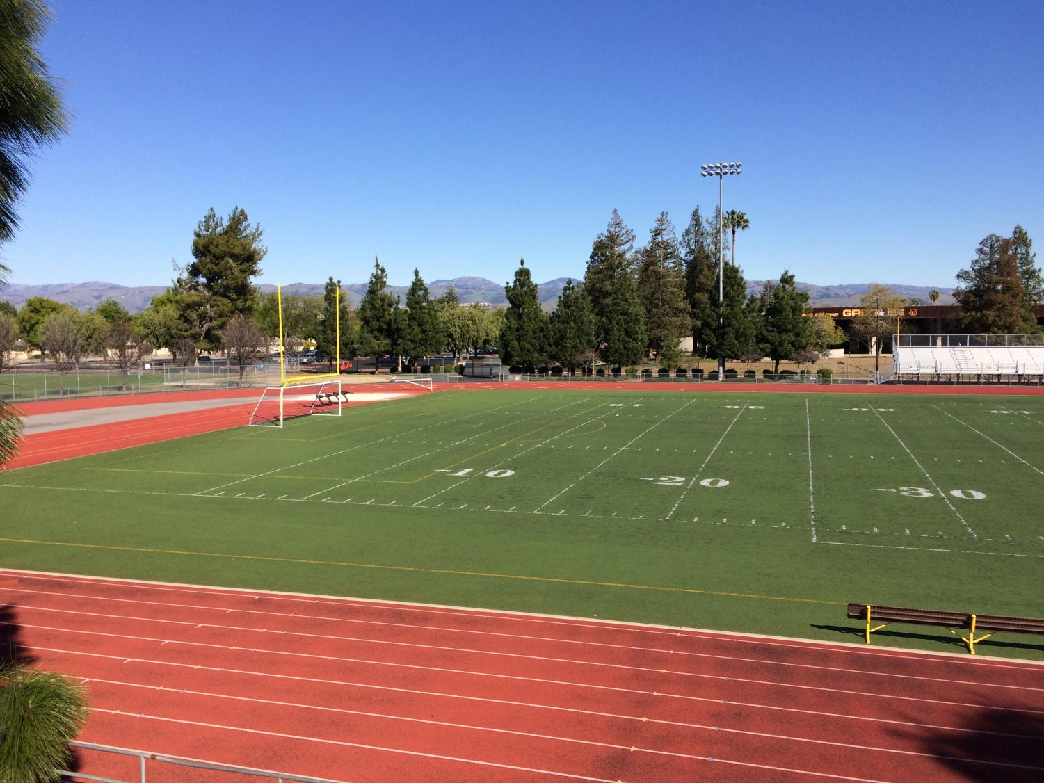 Photo of Gunderson football field (Angled Right)
