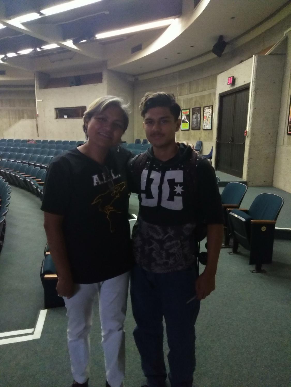 Mrs. Martinez with Manuel Reyes