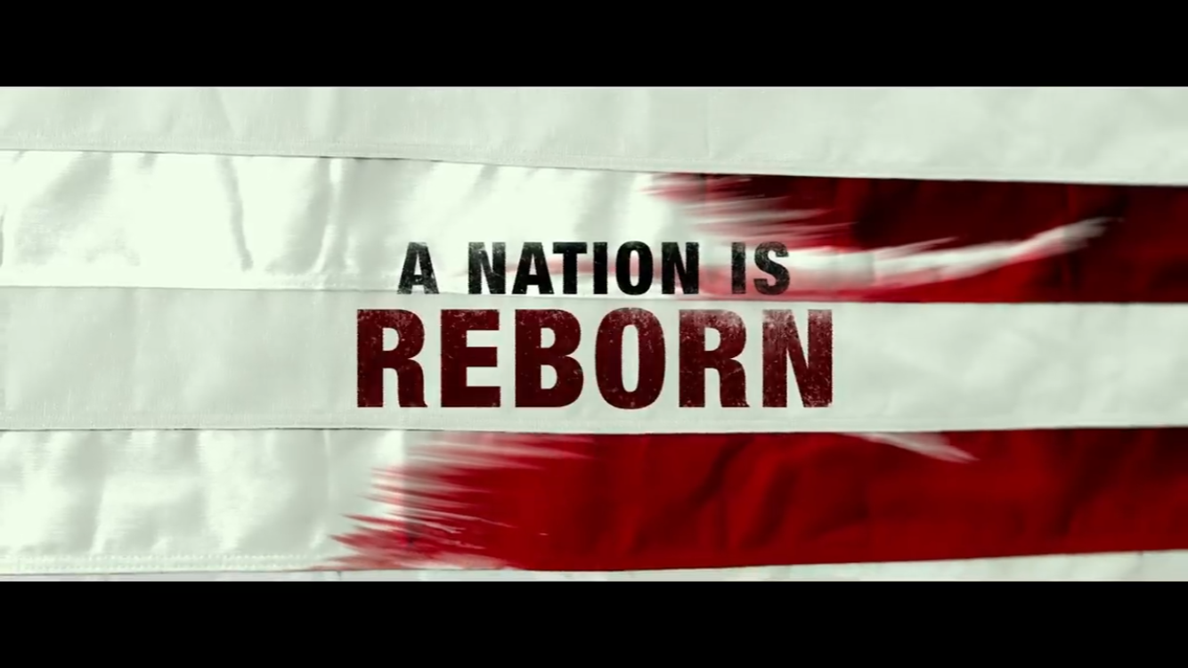 A quote from the Purge movies that is frequently used to indicate that the U.S. is now reborn due to the creation of the 12 hour Purge