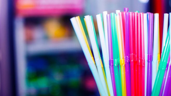 Colorful straws that are ruining our environment.