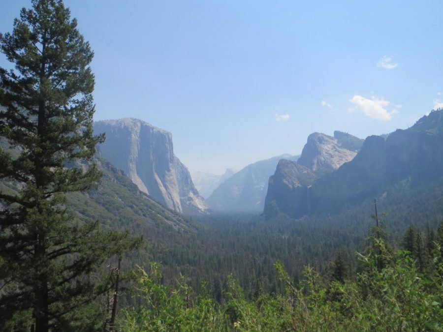 An overlook of the Yosemite Valley in Yosemite National Park