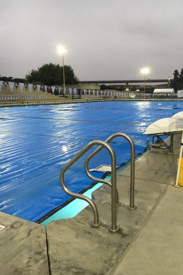 GHS pool temperature halts swim unit.