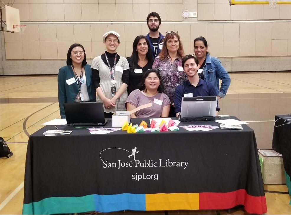 San Jose Public Library hopes to encourage students to visit the library or their web page.